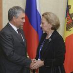 Зинаида Гречаный встретилась с председателем Госдумы РФ Вячеславом Володиным
