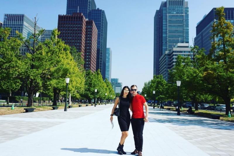 Алина Зотя и ее супруг проводят медовый месяц в Токио (ФОТО)