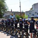 В преддверии зимы столичных полицейских пересадили на велосипеды (ВИДЕО)