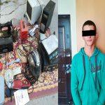 Молодого домушника засняли за совершением кражи в Кишиневе (ВИДЕО)