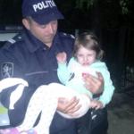 Бельцкая полиция нашла посреди ночи оставленную без присмотра 4-летнюю девочку (ФОТО)