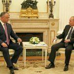 Игорь Додон поздравил Владимира Путина с днем его рождения