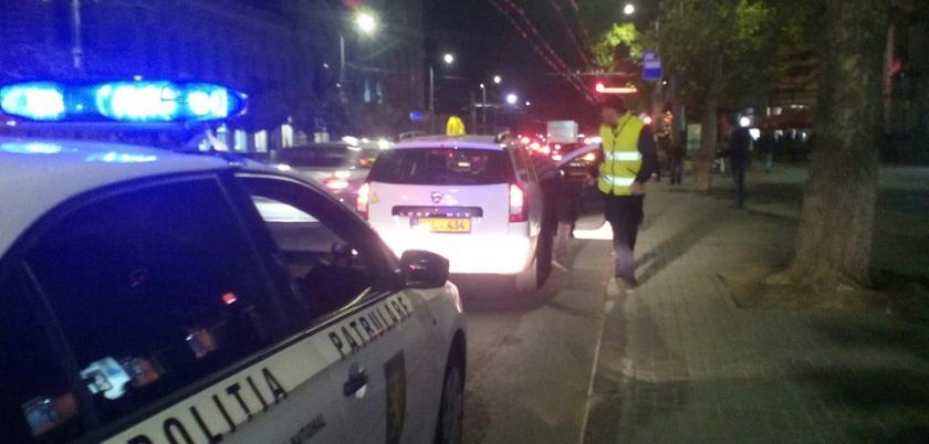 В центре Кишинева таксист был пойман пьяным за рулем (ФОТО)