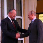 Статус наблюдателя при ЕАЭС, экспорт, миграционная амнистия и Приднестровье: о чем говорили Додон и Путин в Сочи (ФОТО)