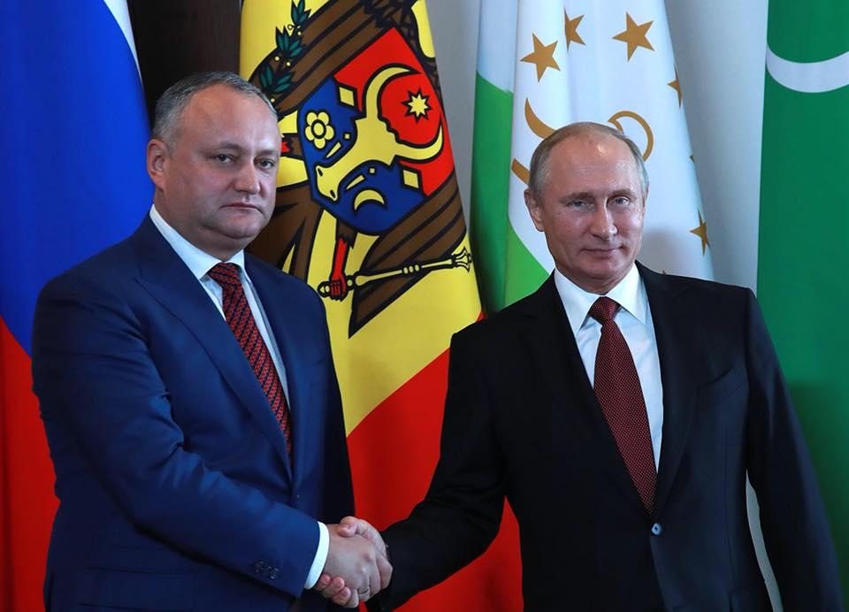 Додон поблагодарил Путина за последовательную поддержку (ВИДЕО)