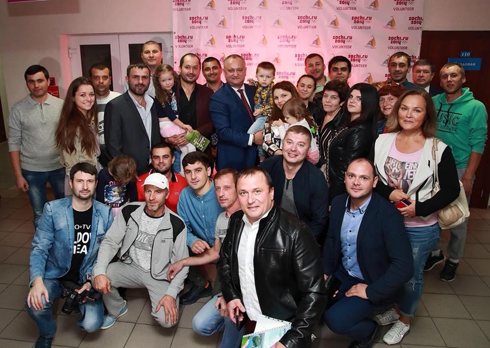 Президент продолжает традицию: в Сочи Игорь Додон встретился с диаспорой