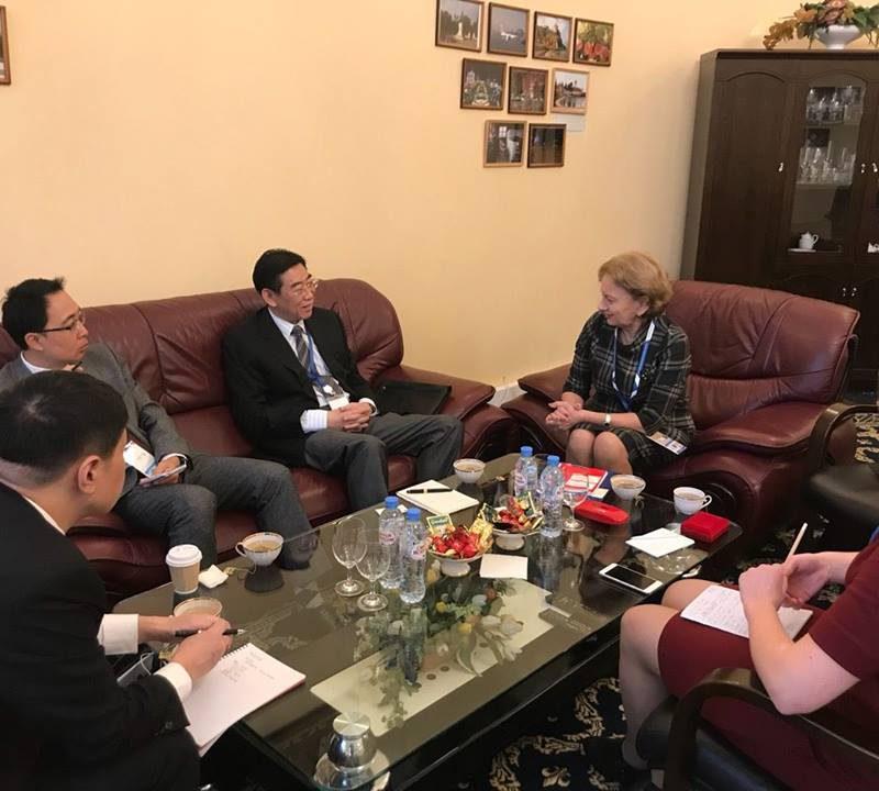 Зинаида Гречаный встретилась с делегацией Китайской Народной Республики