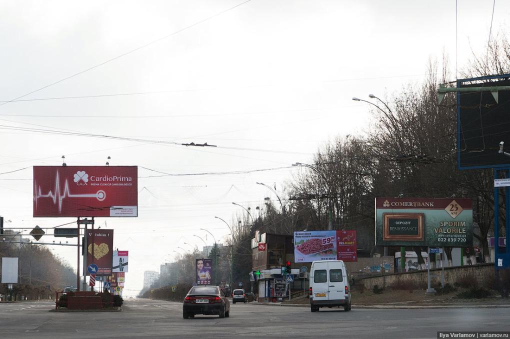 Концепция размещения уличной рекламы в Кишиневе будет опубликована на текущей неделе