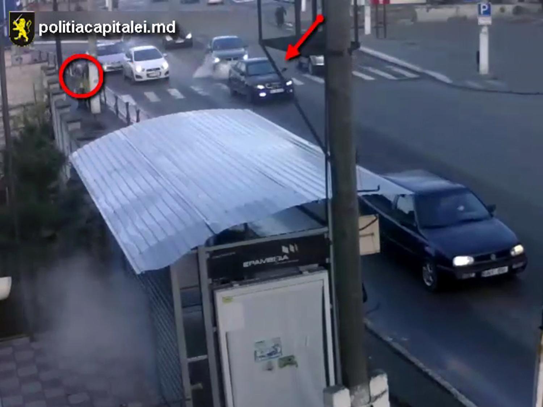"""Наезд на женщину на """"зебре"""" в Кишиневе показали на видео"""