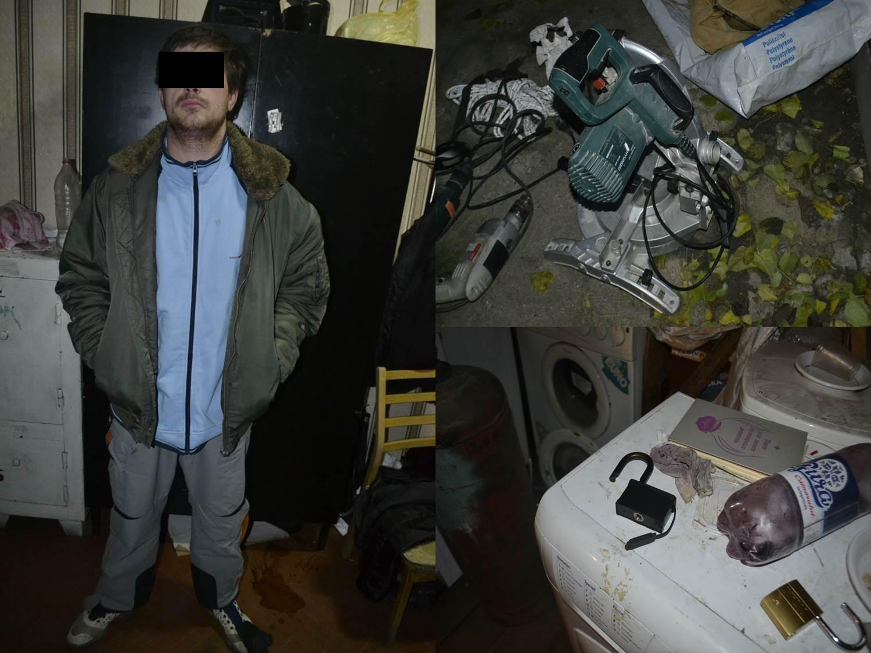 "Молодой мужчина ""обчистил"" автомобиль и гараж на Ботанике (ВИДЕО)"