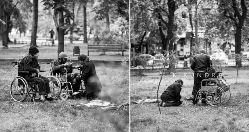 Молдавский фотограф запечатлел на улицах Кишинева «мафию попрошаек» (ФОТО)