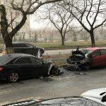 Опубликовано видео охваченных пламенем автомобилей на Ботанике