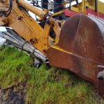 В Гагаузии во время проведения строительных работ загорелся экскаватор