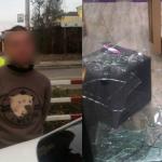 Вор-неудачник попытался ограбить магазин на глазах у полицейских (ФОТО, ВИДЕО)