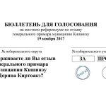 Как будет выглядеть бюллетень для голосования на референдуме за отставку Киртоакэ (ФОТО)