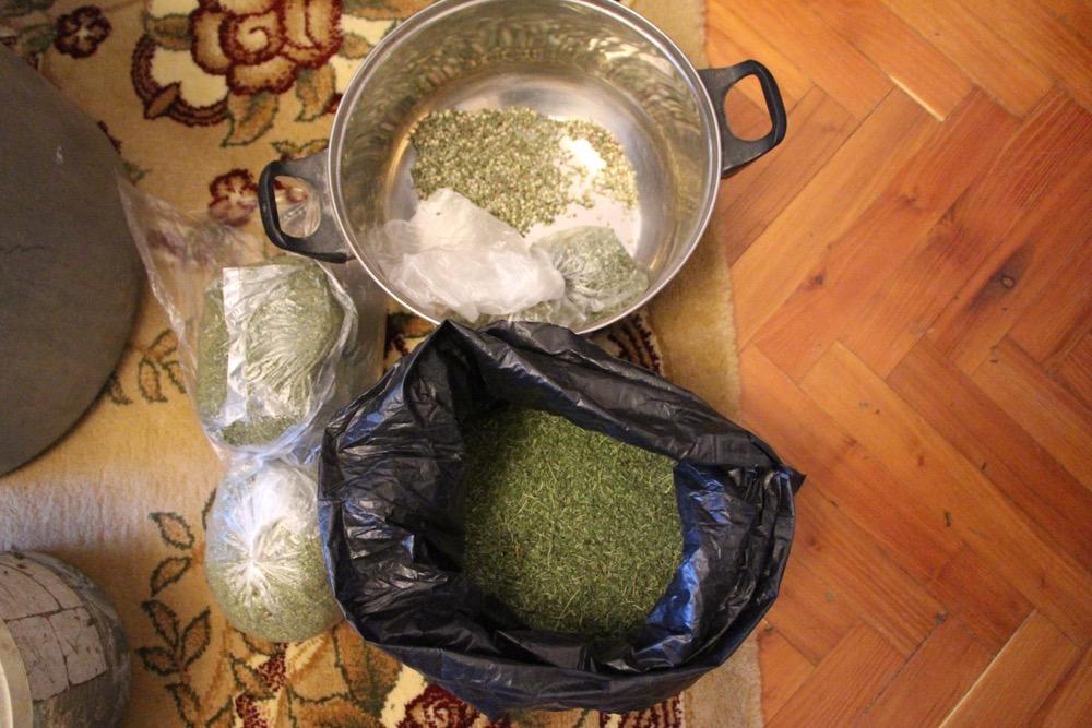 Килограммы марихуаны в кастрюлях и канистрах обнаружили на юге Молдовы (ФОТО)
