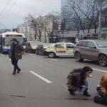 BMW X5 сбил пенсионера в центре Кишинева (ФОТО)