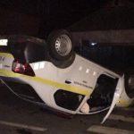 В Кагуле полицейская машина перевернулась из-за не уступившего дорогу легкового автомобиля (ФОТО)