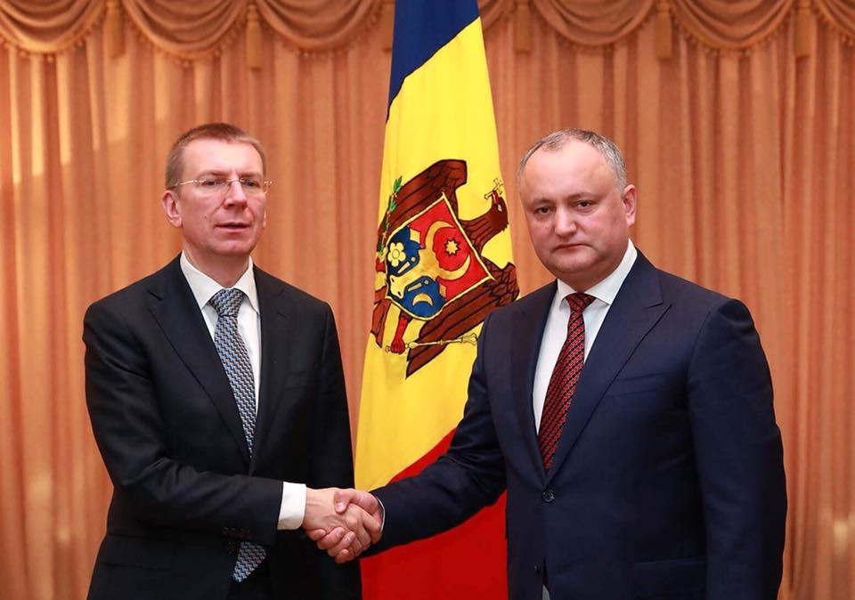 Додон встретился с министром иностранных дел Латвии