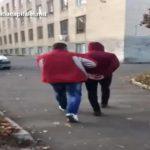 Задержание наглого грабителя на Рышкановке попало на видео