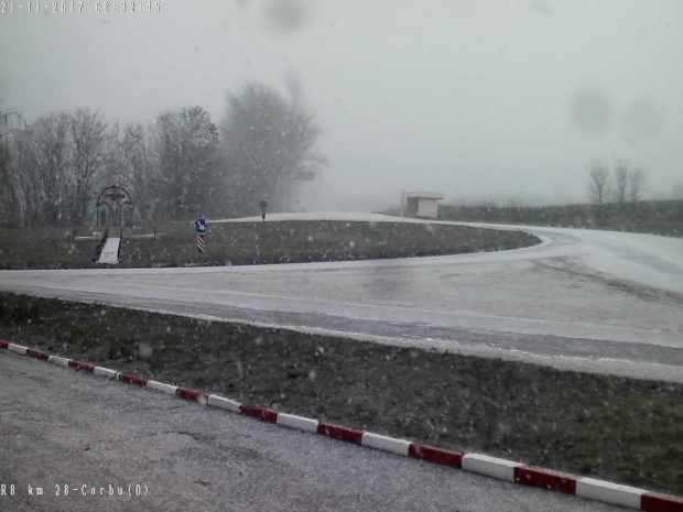 На севере Молдовы выпал первый снег (ФОТО)