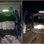 В багажнике бельцкого таксиста обнаружили 400 литров алкоголя
