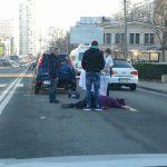 На Ботанике водитель сбил женщину на переходе и сбежал (ФОТО)