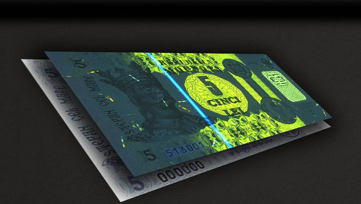 Опубликованы фото новой банкноты в 5 леев