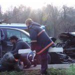 Столичную аварию сняли на видео при помощи дрона
