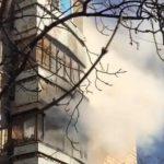 В центре Кишинева в квартире произошел пожар (ФОТО, ВИДЕО)