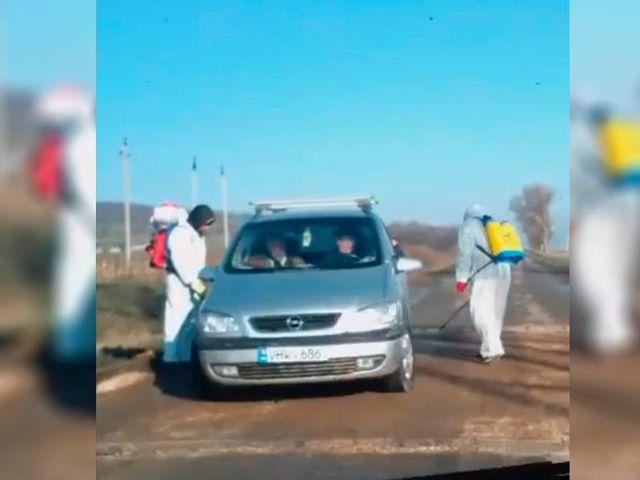 Санитарный пост на въезде в одно из сёл встревожил молдаван (ВИДЕО)