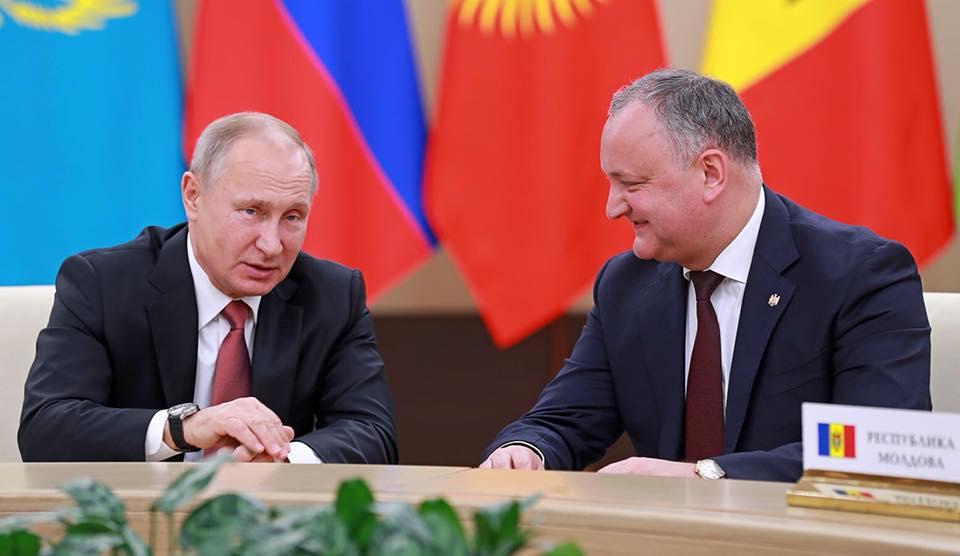 Встреча Додон – Путин: Отношения между странами движутся вперед несмотря на демарши режима