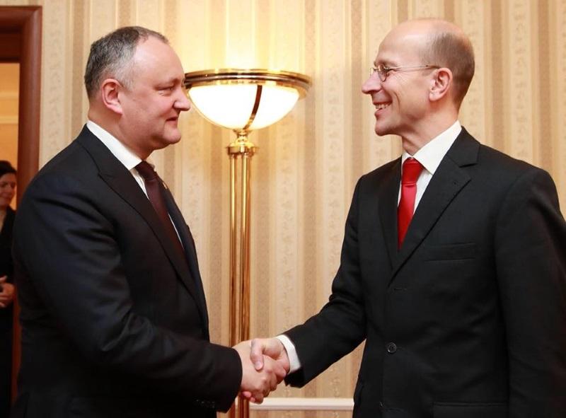 Президент РМ и спецуполномоченный МИД Германии по Восточной Европе обсудили приднестровское урегулирование (ФОТО)