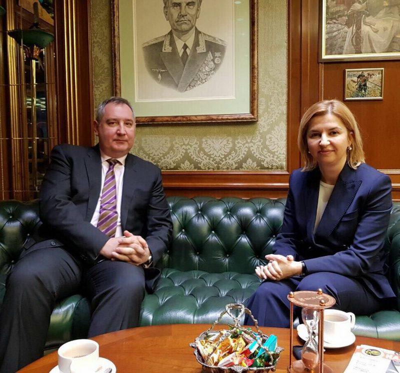 Ирина Влах встретилась в Москве с Дмитрием Рогозиным
