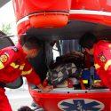 Жителя Вулканешт с травмами позвоночника и головы доставили в столицу на вертолете SMURD