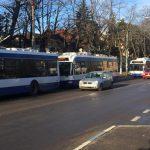 В центре Кишинева из-за аварии на линии встали все троллейбусы (ФОТО)