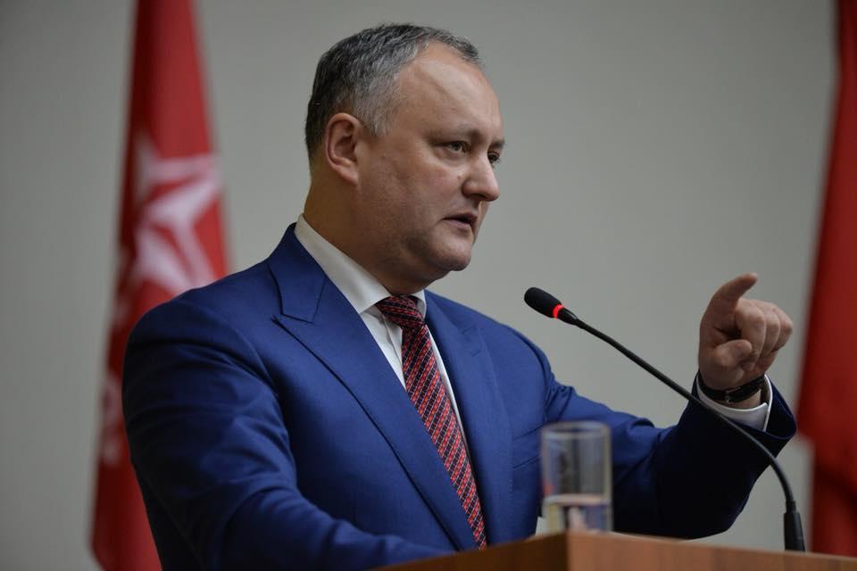 Додон призвал к объединению всех патриотических сил против евроунионистского режима