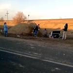 В Унгенах машина вылетела в кювет: госпитализирована целая семья (ВИДЕО)