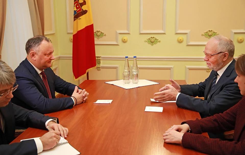 Президент Молдовы и посол России выступили за возобновление стратегического сотрудничества между странами на всех уровнях