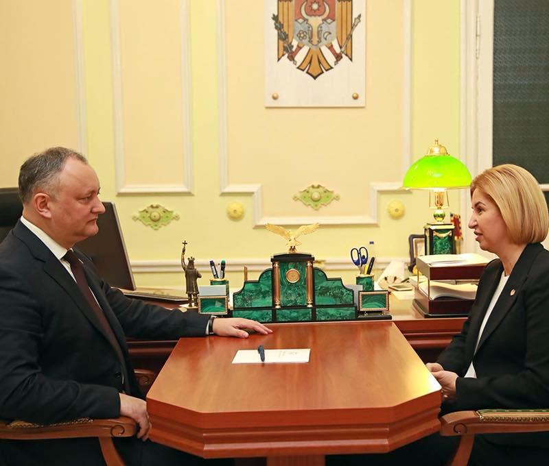 Игорь Додон обсудил с Ириной Влах действия для успешного развития Гагаузии