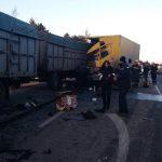 В страшном столкновении двух грузовиков погибла женщина (ФОТО)
