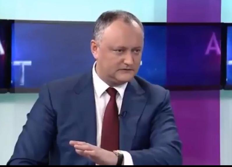 Додон об отставке Панцыру: Он ответит за всё, и румынское гражданство не поможет (ВИДЕО)