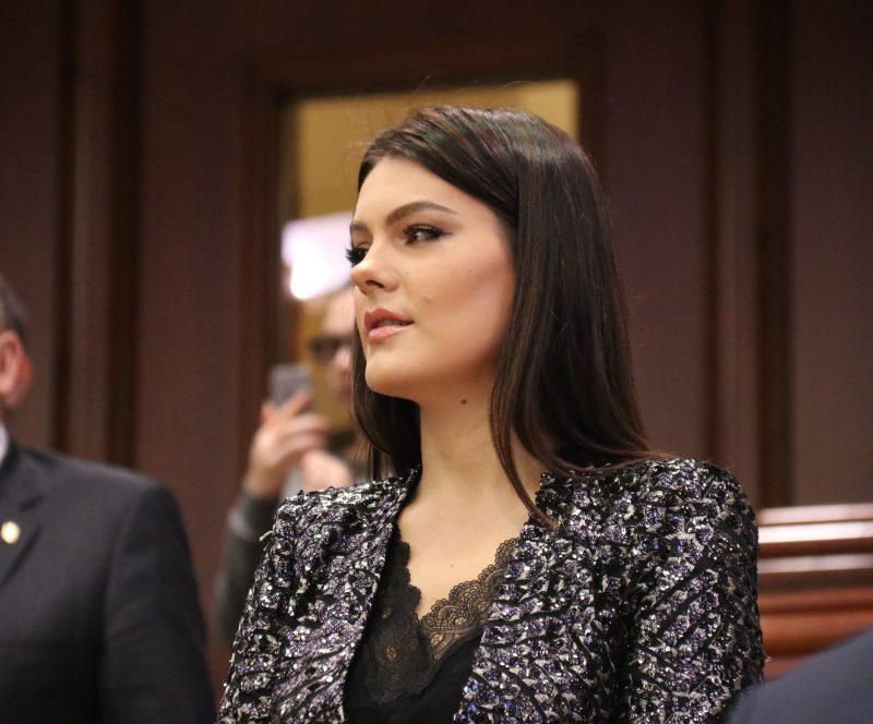 Алина Зотя перепутала заседание парламента с вечерним раутом (ФОТО)