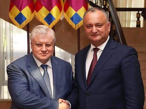 Игорь Додон поздравил Сергея Миронова с юбилеем