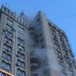 На Рышкановке в офисном здании произошел пожар (ФОТО, ВИДЕО)