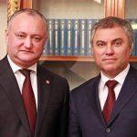 Президент поздравил председателя Госдумы РФ с днем рождения