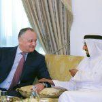 Встреча с королевской семьей: президент пригласил арабского шейха посетить с визитом Молдову (ФОТО)