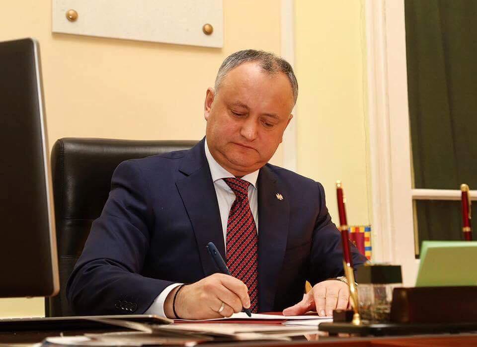 Игорь Додон представит отчет о деятельности за 2 года мандата президента