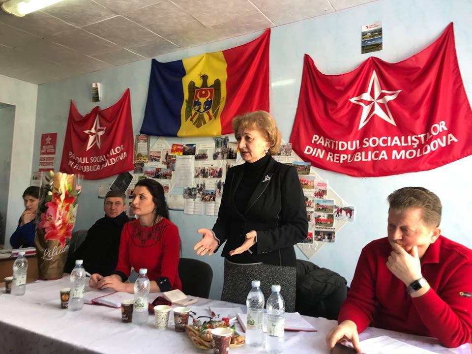 Гречаный обсудила ситуацию в стране с активом ПСРМ в Леова и Кантемире