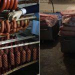 Колбасы сомнительного происхождения и хранения обнаружили на яловенском предприятии (ВИДЕО)